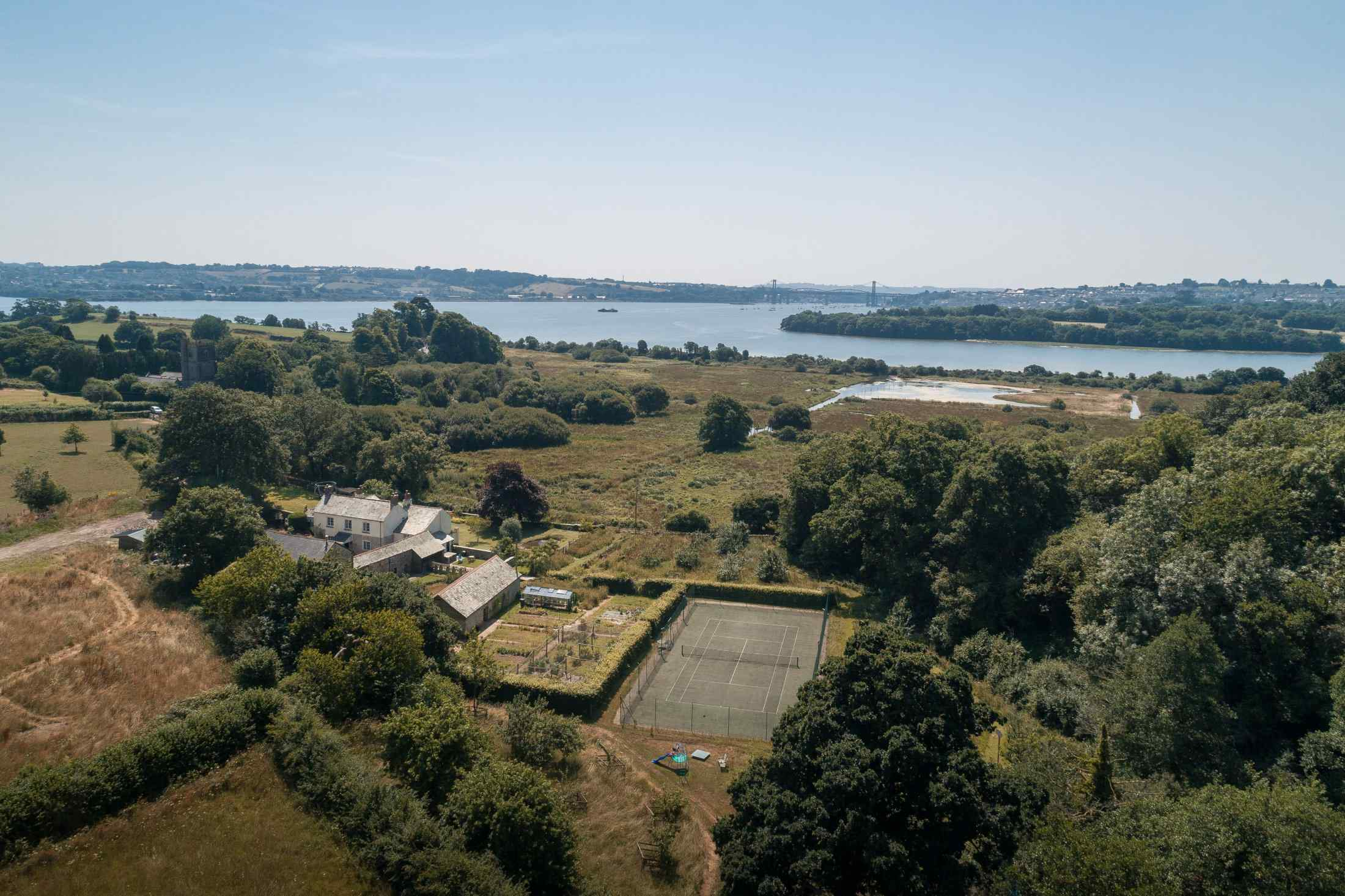 Lower Marsh Farm from the air