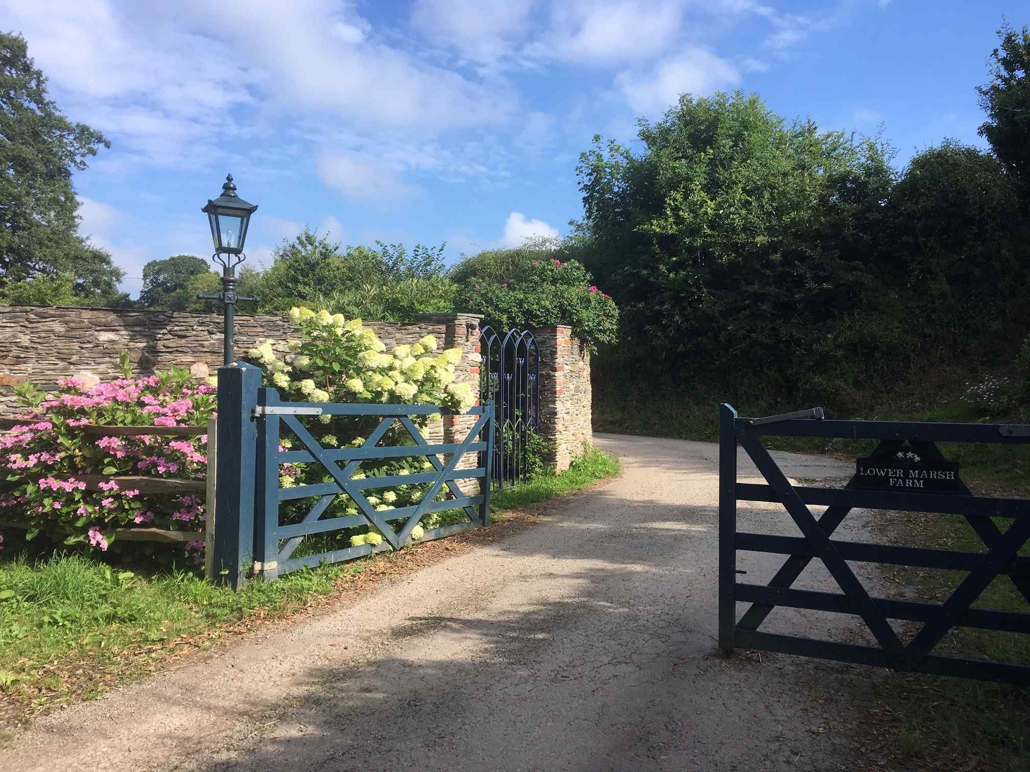 Entrance to Lower Marsh Farm