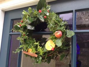 Christmas wreath to welcome you