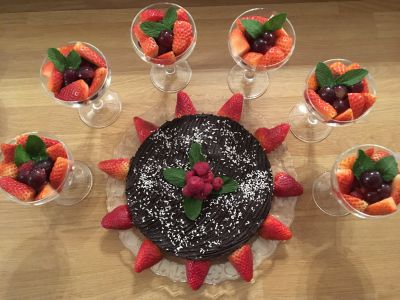 Vegan Raw Chocolate Torte