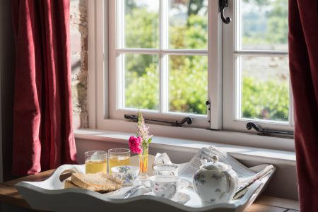 Breakfast in bed with a view