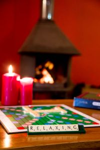 Relax in front of a cosy fire in the log burner