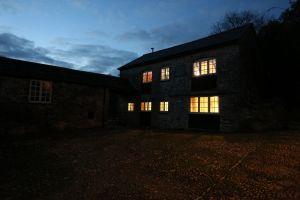Barn external at night