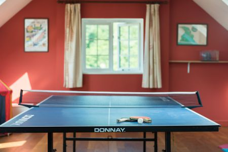 Table Tennis In Games Room
