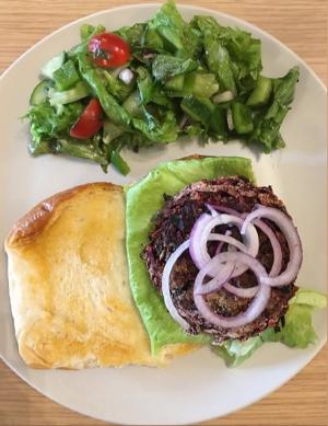 Vegan Beetroot Burger In Sourdough Bun